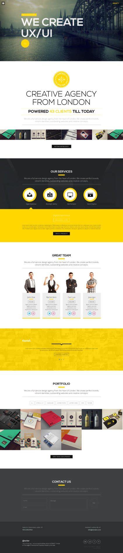 one page layout wordpress free dignity one page wp portfolio by sandracz on deviantart