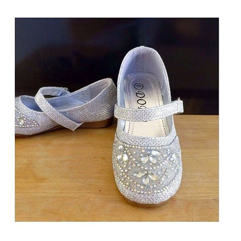 Toddler Size 9 Dress Shoes by Silver Medium Glitter Dress Shoes Baby Toddler Size 5 6 9 Ebay