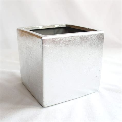 Silver Square Vases by Ceramics Receptions And Vase On