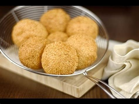 video cara membuat onde onde mini eng sub cara membuat kue onde onde sesame ball youtube