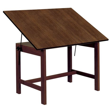 Draft Tables Alvin Titan Walnut Finish Drafting Drawing Table Drafting Drawing Tables At Hayneedle