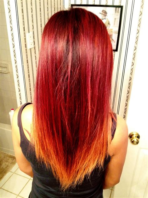 red ombre hair few tricks for trendy looking hair like a star ombre in