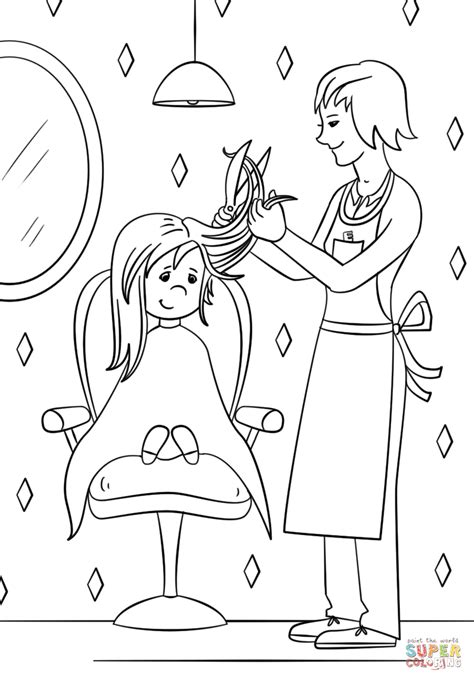 hairdresser coloring pages hairdresser coloring page free printable coloring pages