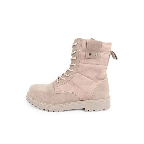 beige combat boots s beige synthetic suede combat sole ankle boots