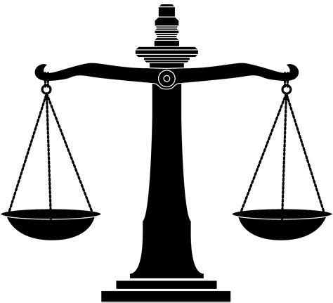 Law Scale Clipart - Clipart Suggest Law Scale Of Justice