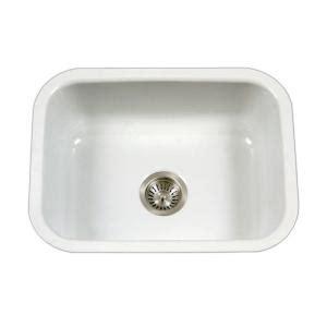 Porcelain Undermount Kitchen Sink by Houzer Porcela Series Undermount Porcelain Enamel Steel 23