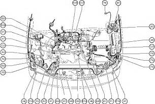 position of parts in engine compartment toyota 1997 2003 repair