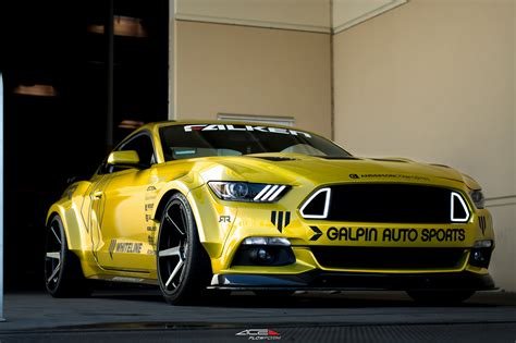 Mustang Auto Sport by Galpin Auto Sports Restyles Yellow Ford Mustang Carid