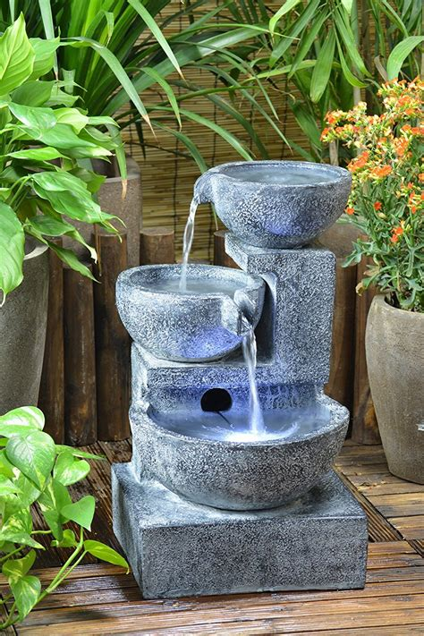 solar powered backyard fountains beautiful solar powered garden fountains honest reviewz