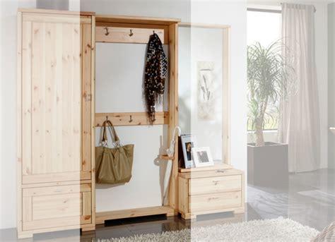 garderobe skandinavisch garderoben spiegel guldborg kiefer massiv pinus
