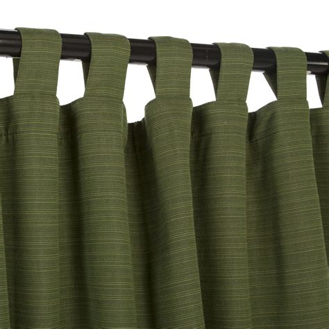 outdoor sunbrella drapes dupione palm sunbrella outdoor curtain with tabs