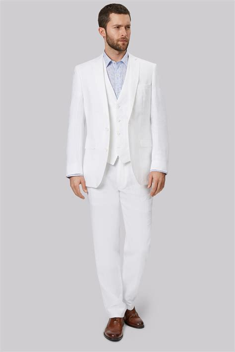 how to wear a white suit for your wedding brides moss 1851 mens suit jacket only tailored fit white double
