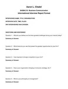 best photos of interview format template sample