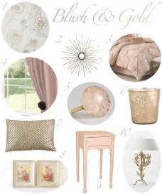 blush and gold bedroom decor for the home