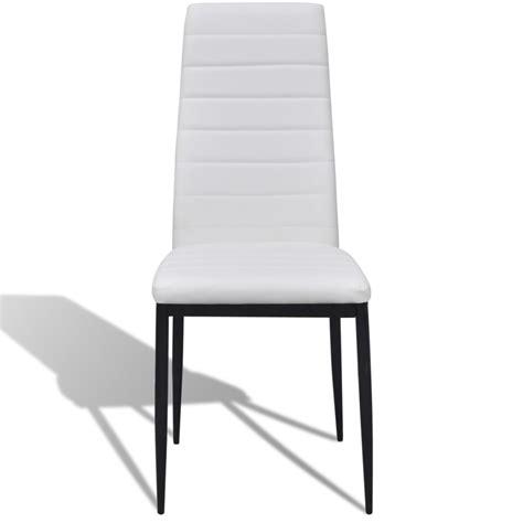 Slim Dining Chairs 4 Pcs White Slim Line Dining Chair Vidaxl