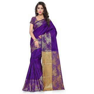 Id 459 Purple Ethnic Blouse satyam weaves purple jacquard self design saree with