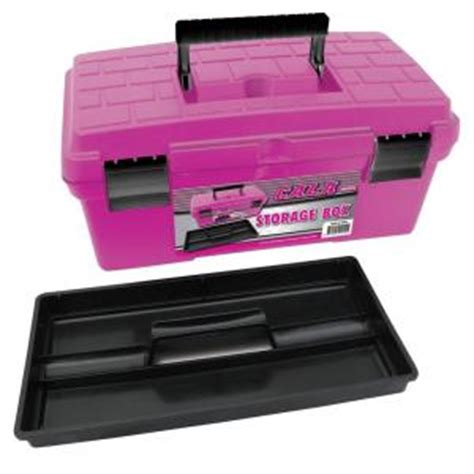 cala tools 8 in plastic tool box in pink kde16ptb at the