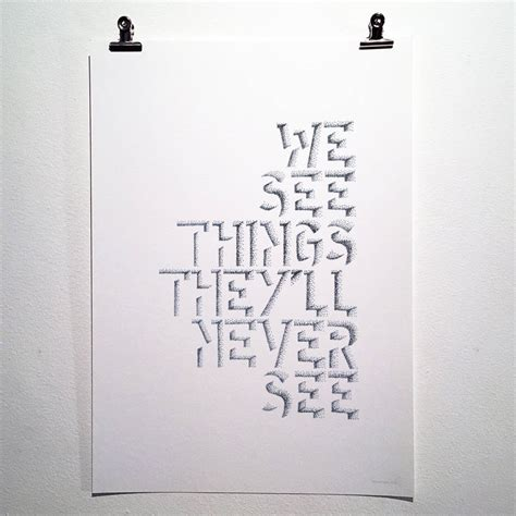 sketchbook lyrics we see things oasis lyrics typography print by