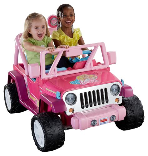 barbie jeep power wheels 12v battery toy ride on barbie jammin jeep