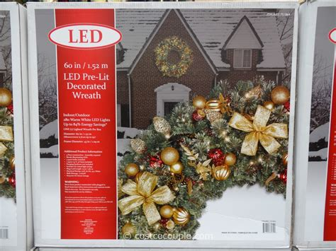 pre lit decorated wreaths 60 inch led prelit decorated wreath