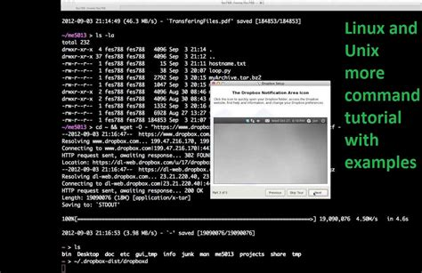 tutorial linux command line linux and unix more command tutorial with exles