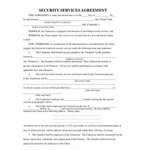 security company contract template 15 service agreement templates free sle exle