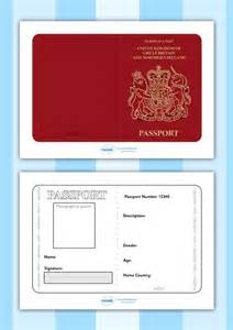 passport template for printable best 25 passport template ideas on