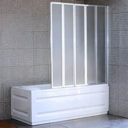 plastic folding shower doors 4 fold bath screen ebay
