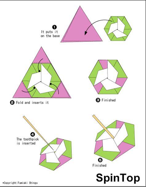 Top Ten Origami - origami spintop