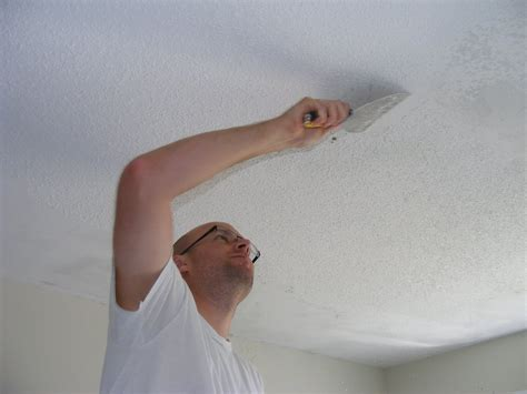 Fixing A In The Ceiling by How To Repair A Textured Ceiling