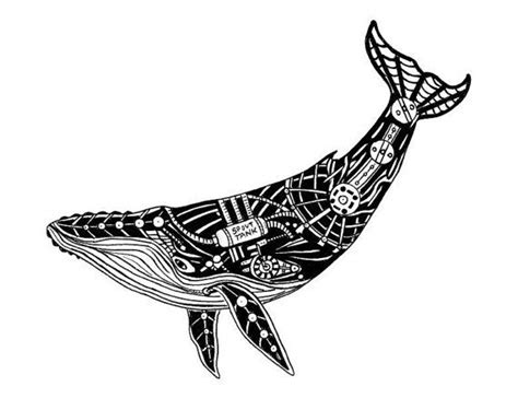 tribal humpback whale drawing
