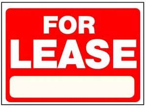 For Lease For Lease Corrugated Sign