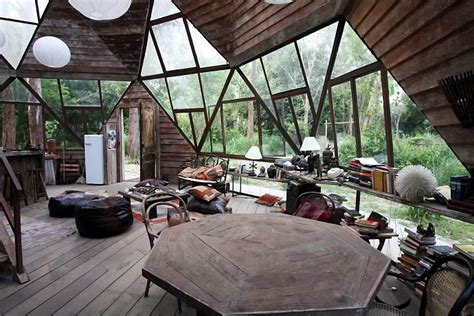 geodome house moon to moon the beautiful wooden dome house in a forest