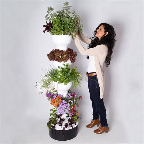 foody 8 vertical hydroponic garden tower the green
