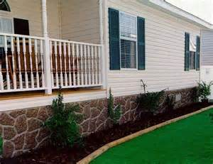 House Skirting Ideas Mobile Home Skirting Grey Rock Sand Stone Much Better