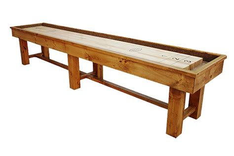 9 foot ponderosa pine shuffleboard table mcclure tables