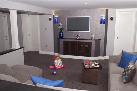lower level remodel quot the family zone quot contemporary