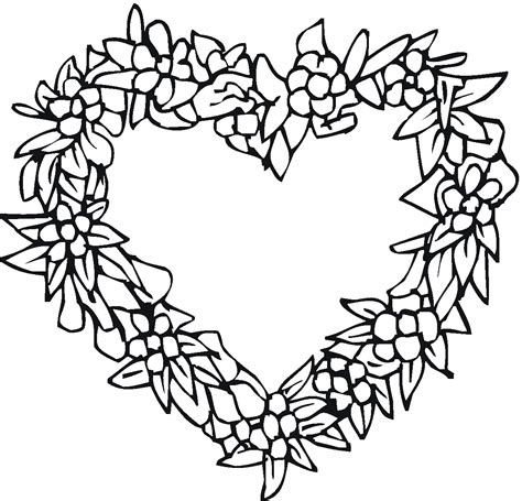 coloring pages flowers hearts flower heart coloring pages coloringsuite com