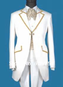 Customer made top quality fashion white gold suits formal office men s