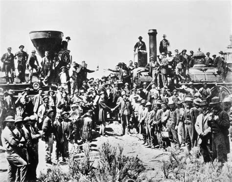 the sections of the transcontinental railroad join in transcontinental railroad promontory point utah may 10