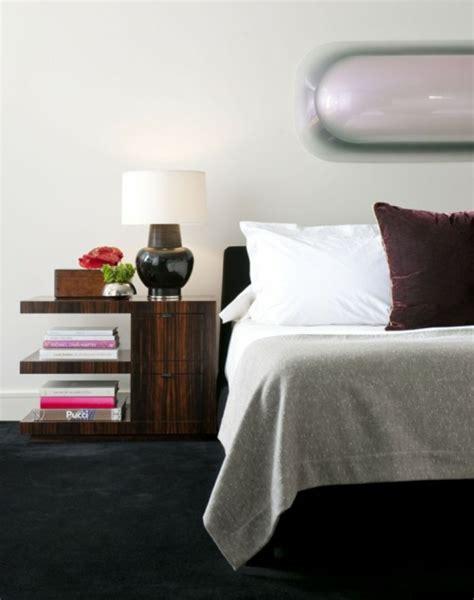 designer nachttische schlafzimmer holz nachttisch design