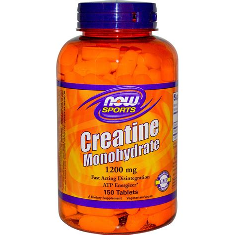 creatine expiration now foods sports creatine monohydrate 1200 mg 150 tablets