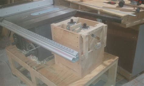 woodworking forum dual router table lifts dust collection