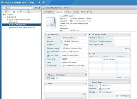 vmware template create machine template vmware esxi