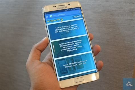Samsung S6 Tahun Ini pandang pertama samsung galaxy s6 edge wangcyber