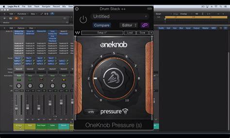 using waves one knob pressure across all tracks
