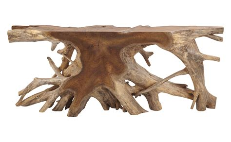 teak root console table teak root console large transitional console tables