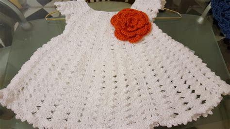 vestiditos crochet nia vestidito en crochet ganchillo de abanicos para ni 241 a