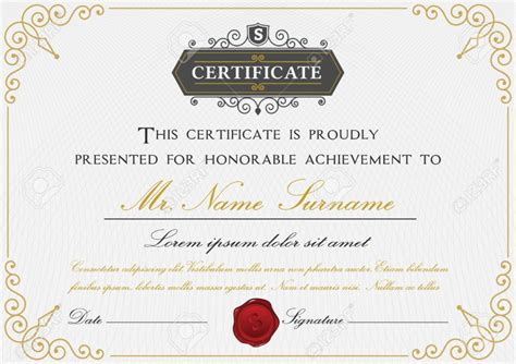 design a certificate using word 15 professional certificate of achievement templates