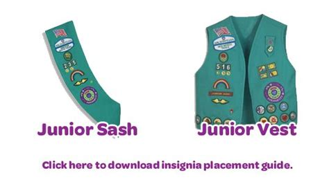 junior sash and vest 51 best my girl scouts images on pinterest girl scout